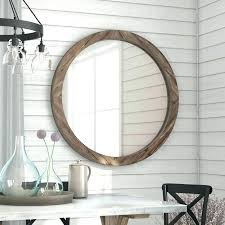 wall mirrors large rustic wall mirror mirrors wooden union round wood reviews with regard tuscan lar