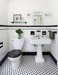 white and black tile bathroom