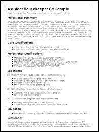 Professional Housekeeper Resume Housekeeping Supervisor Job