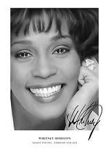 whitney black white. Whitney 7 Houston Black And White Tribute Signed Poster A3 A4 Laminated Print T