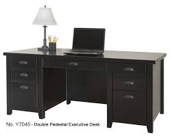 white home office furniture 2763. loft office furniture black double pedestal executive desk white home 2763