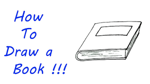 how to draw a book very easy for kids