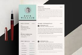 One Page Resume Template With Cover Cover Letter Templates