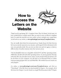 complaint letters that get results 18 xx bull 101 complaint letters
