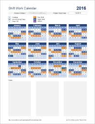 shift work schedules shift work calendar for excel