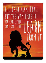 Lion King Sunset Learn From It Quote Metal Wall Sign Plaque Wall