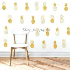 pineapple wall decals gold pineapple wall decals vinyl stickers unique golden pineapple wall stickers for kids