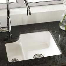 Granite Kitchen Sinks Uk Astracast Lincoln 15 Bowl Gloss White Ceramic Undermount Kitchen