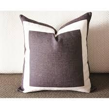 linen pillow brown bed pillow brown