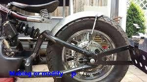 r r bobbers vt600 conversion into a bobber russian gold youtube