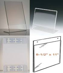 quick and low s for clear plastic sign holders and picture frames