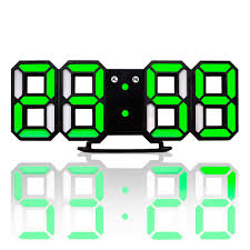 New Modern <b>Wall Clock 3D LED Digital Wall Clock Wall Clock</b> Clock ...