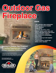 outdoor fireplace and patioflame brochure 1 2 pages