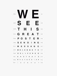 Eye Chart Print Marketing Blog