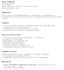 Business Student Resume Enchanting Sample Resume Career Objective Finance Graduate Also Resume Job