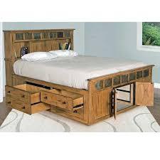Concept Sd 2334ro Sq Sedona Rustic Petite Storage Bed Queen Size Of ...