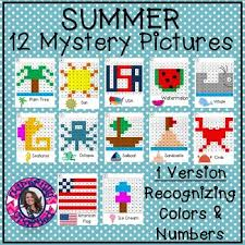 Color By Number Hundreds Chart Summer Mystery Pictures Hundreds Chart Recognizing Colors Numbers
