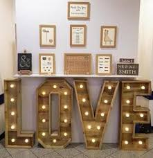 large rustic wooden wedding light up letters love various sizes designs