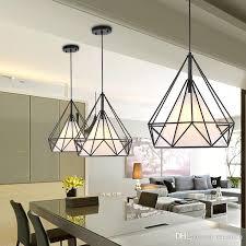 scandinavian lighting fixtures. Modern Black Birdcage Pendant Lights Iron Minimalist Retro Lamps Scandinavian Loft Pyramid Lamp Metal Cage With Led Bulb Track Lighting Fixtures N