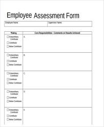 Sample Assessment Form Employee Assessment Forms Under Fontanacountryinn Com