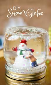 diy snow globes an easy winter craft for kids or a fun way to