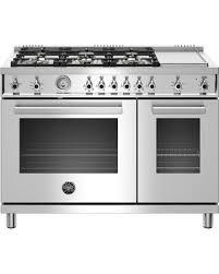 6 burner stove with double oven. Fine Burner PROF486GGASXT 48 For 6 Burner Stove With Double Oven