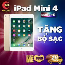 Máy tính bảng iPad Mini 4 Bộ nhớ 16/64G bản 4G + WIFI chính hãng Apple -  NHƯ MỚI 99% - TẶNG: BỘ SẠC 12W + BAO DA chính hãng 4,779,000đ
