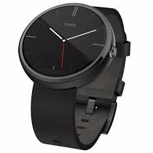 picture of motorola moto 360 4gb leather band smart watch black