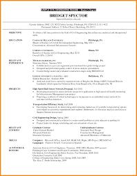 Graduate School Resume Examples