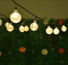 Solar Led String Lights 5M 20LEDs Crystal Ball Globe Fairy Lights