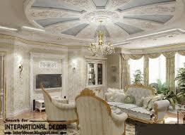 Gypsum board ceiling for classic interior design, Classic Italian interior,  gypsum molding