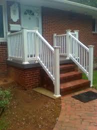 brick porch porch step railing