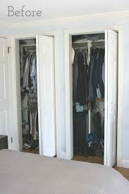 Awesome Beaded Curtains For Closet Doors Ideas with Replacing Bi Fold Closet  Doors With Curtains Our Closet Makeover