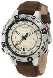 timex men s t2n721 intelligent quartz adventure series tide temp timex men s t2n721 intelligent quartz adventure series tide temp compass brown leather strap watch timex