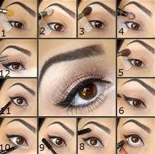 easy makeup tutorial for brown eyes