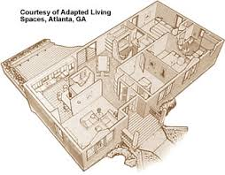 Same Room3 DIFFERENT WAYS  Design Services LTDAging In Place Floor Plans