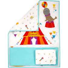little bedding by nojo reversible step right up circus print 3 piece crib bedding set com