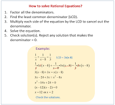 solve rational equations