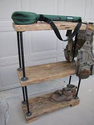 iron pipe furniture. Reclaimed Vintage Barn Wood Black Iron Pipe Shelf Furniture I