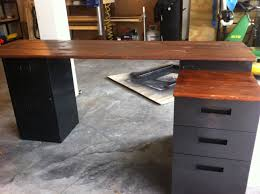 wood office desk plans astonishing laundry room. Plain Wood DIY L Shaped Desk With Filing Cabinet And Wood Office Plans Astonishing Laundry Room N