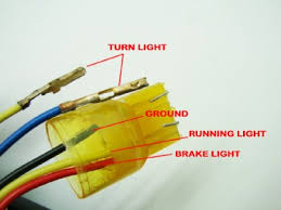 tail light problem on cbr fi net that is the url of a picture of the lights wires the bike use to have 2 tail lights that were integrated so the bike has two sets of wires for the