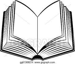 vector art open book black and white ilration for design clipart drawing gg61308274