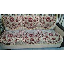 Sofa covers Leather Printed Floral Jute Sofa Cover Indiamart Printed Floral Jute Sofa Cover Rs 350 set Factory Home Id