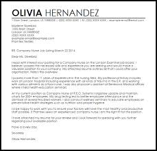 Ideas Collection Pany Nurse Cover Letter Sample In Cover Letter
