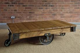 red brick furniture. Furniture:Classic Rectangle Reclaimed Wood Coffee Table Decor Ideas With Black Iron Wheels And Red Brick Furniture