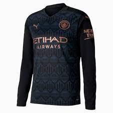Man City Away Replica Long Sleeve Men's Jersey | Puma Black-Dark Denim |  PUMA Football Clubs