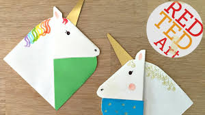 red ted art book unicorn bookmarks with jenny from origami tree nextup 2018