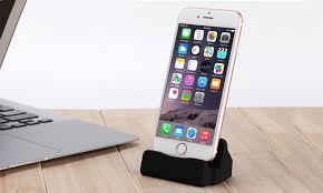 8 pin desktop stand charging dock for iphone black