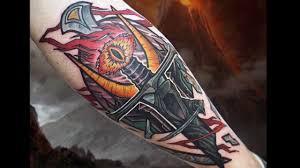 тату око саурона 30 татуировки по мотивам вселенной властелин колец