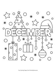 December Coloring Page Printable Winter Coloring Ebook Primarygames